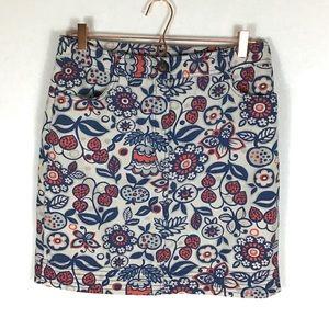 Boden Floral Skirt Size 8